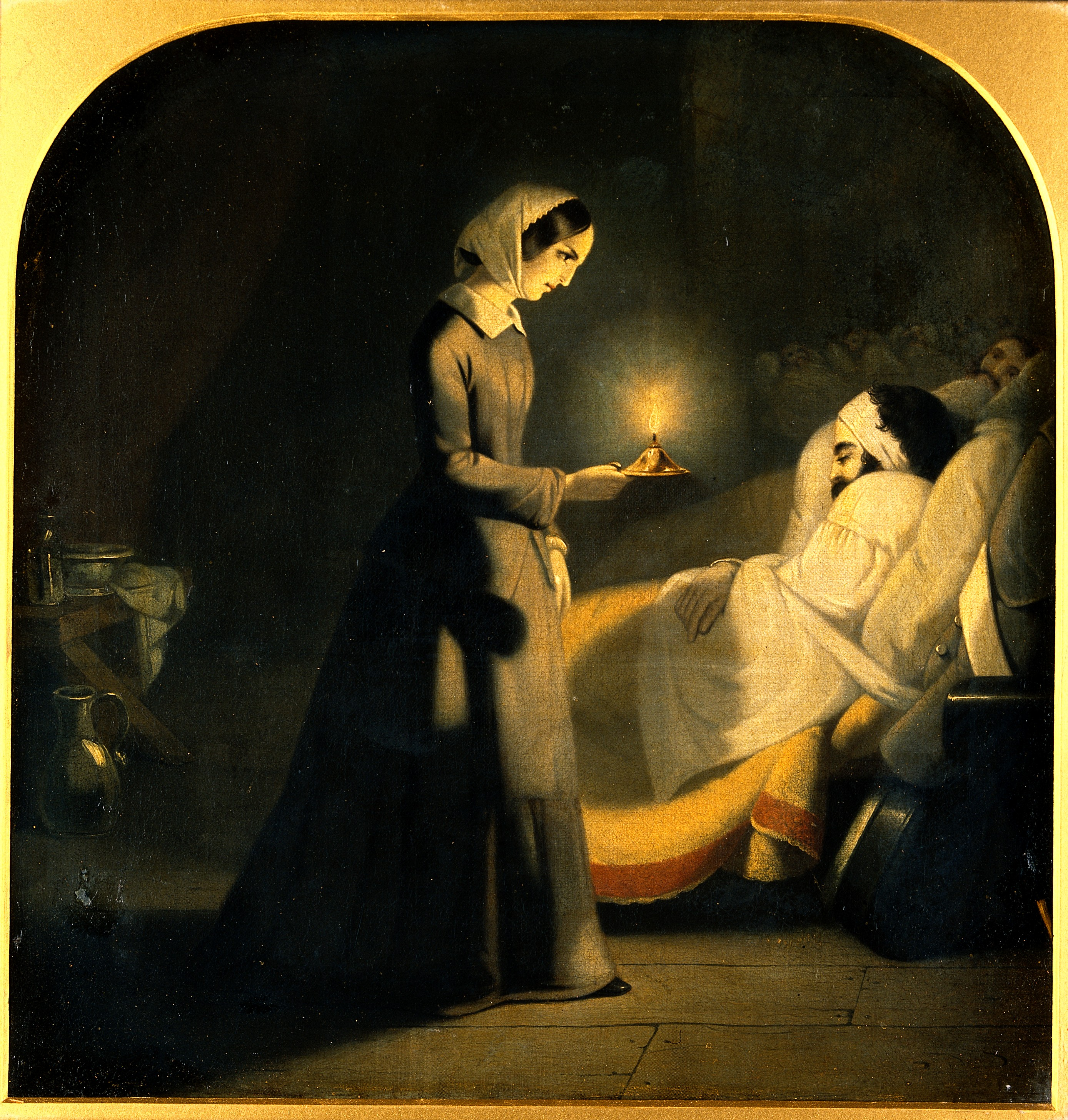 File:Florence Nightingale As The Lady With The Lamp. Oil Painting Wellcome  V0017994.