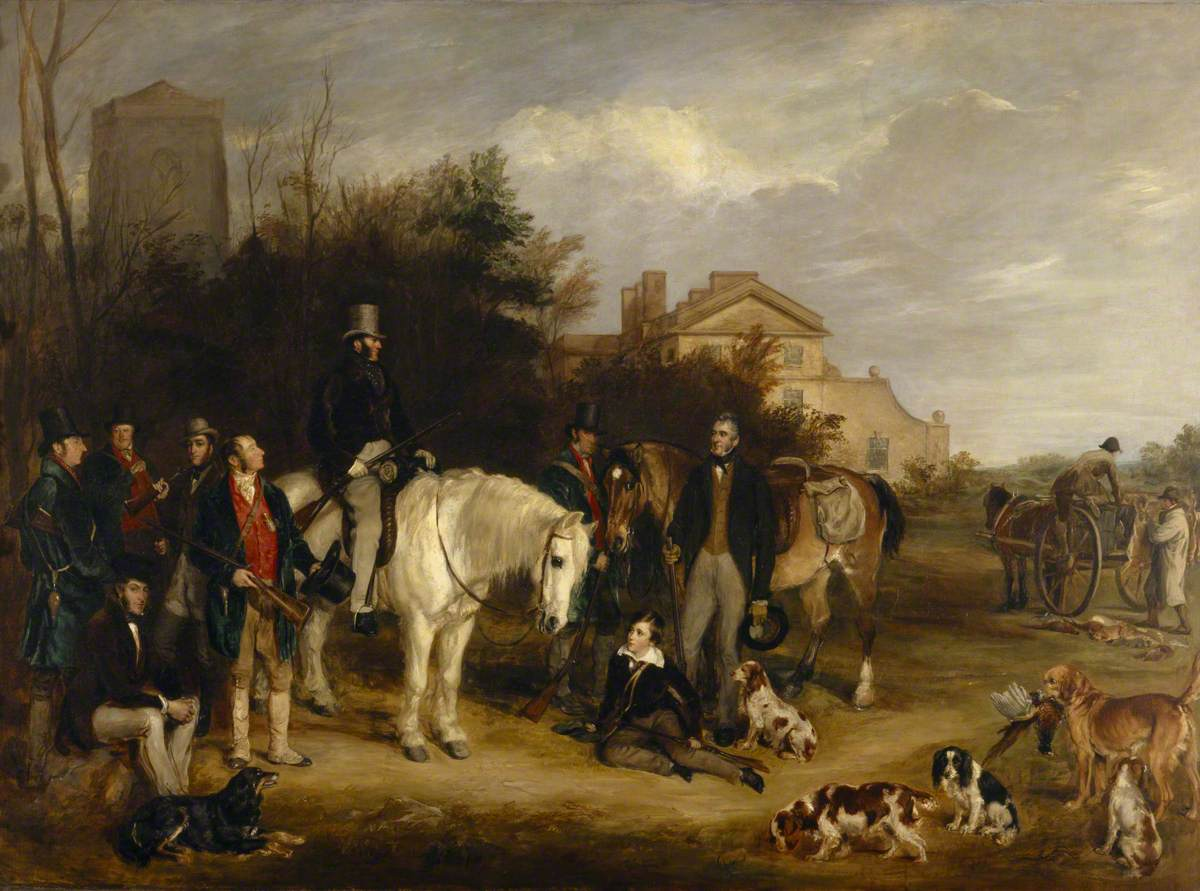 Francis Grant (1803-1878) - A Shooting Party at Ranton Abbey, Staffordshire - 1271073 - National Trust.jpg
