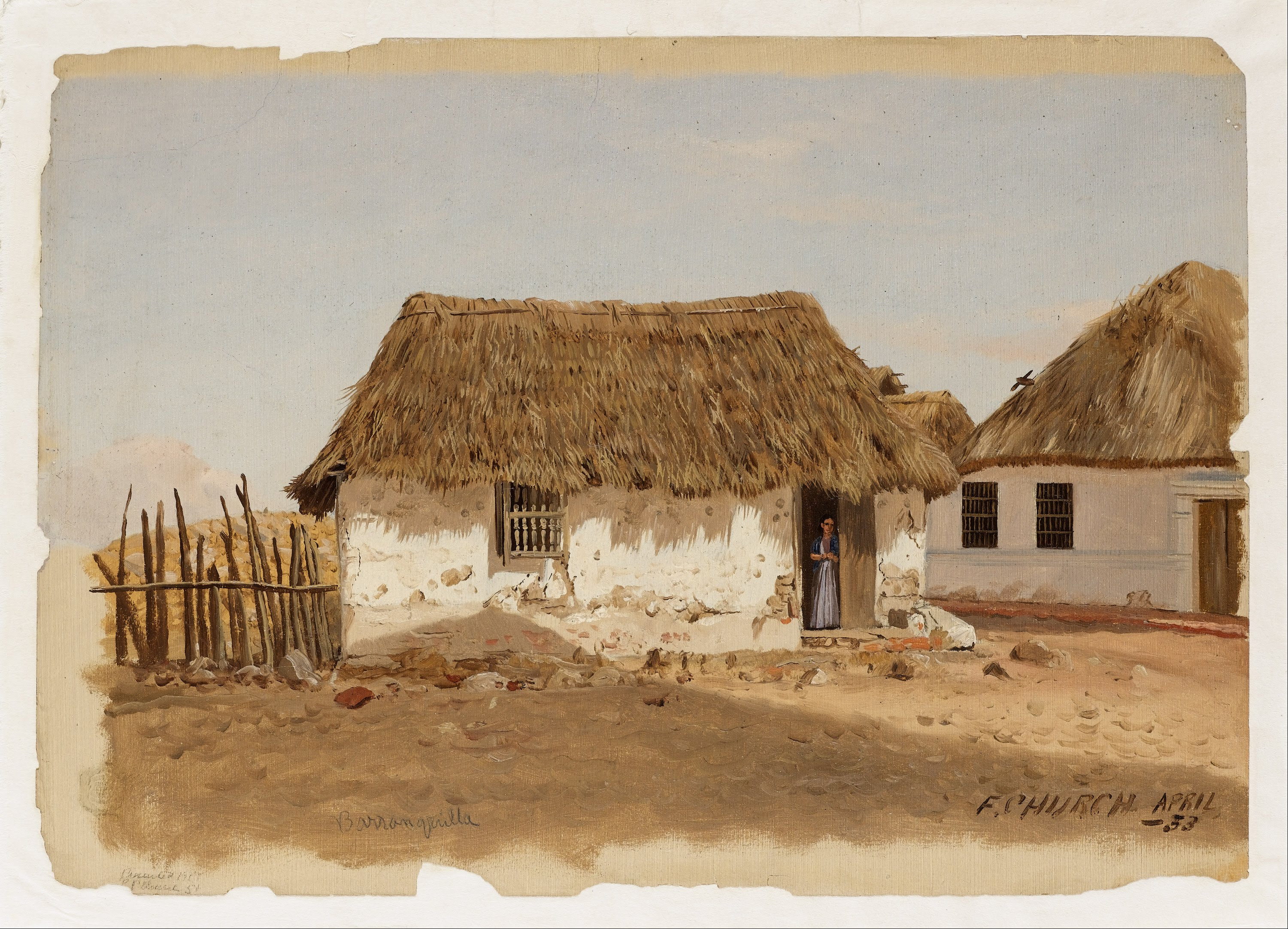 file frederic edwin church - colombia  barranquilla  two houses