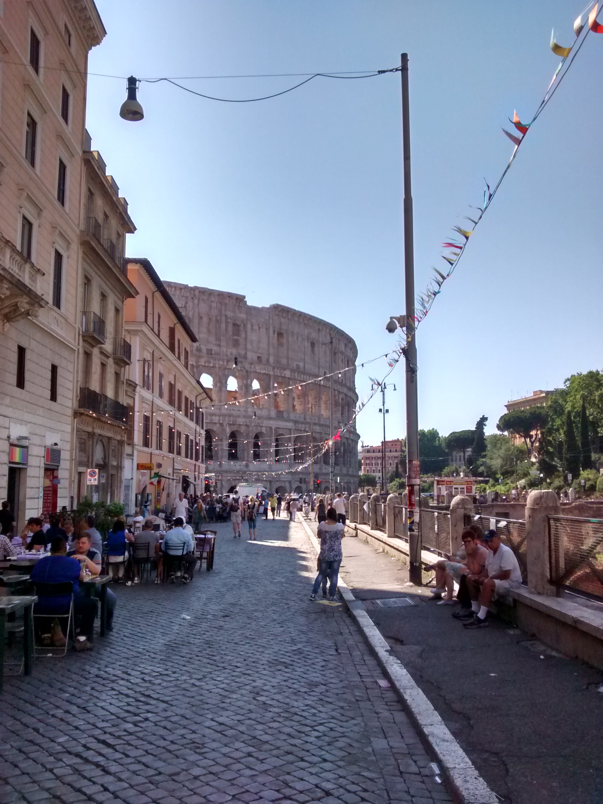 holder of this work, hereby publish it under the following license: English Gay Street, Rome, and Colosseum Wikimedia username: Mr. Granger object has role:
