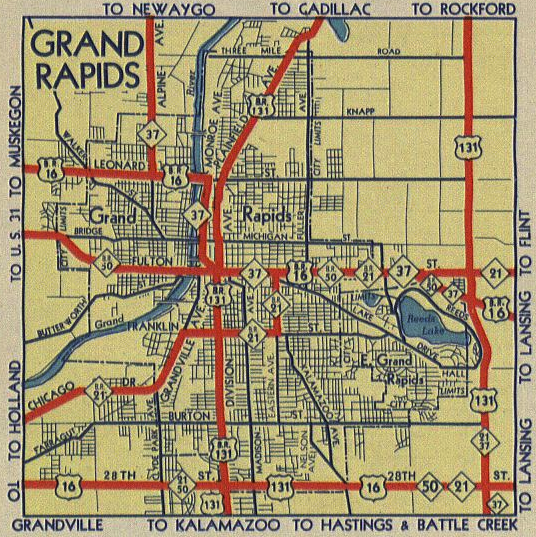 inset map from the october 1 1957 official highway map showing the highway configuration