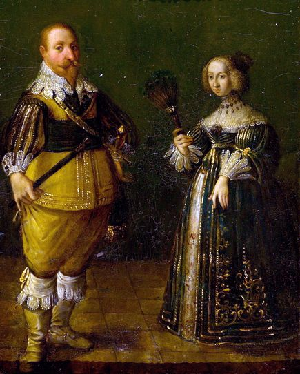 King Gustav Adolph and Queen Mary Eleanor Gustav II Adolph of Sweden & Mary Eleanor of Sweden c 1632.jpg