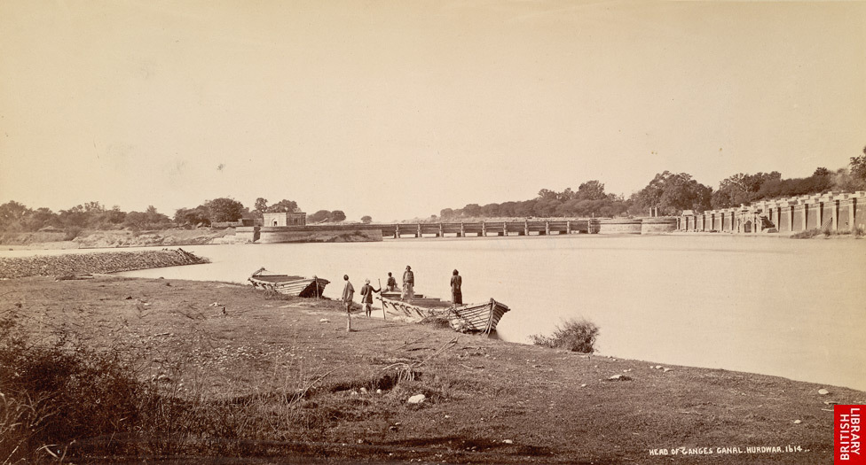 The Upper Ganges Canal was built in 1854; it carries water from the Himalayan snowmelt, diverted into the canal by a dam and provides irrigation for the surrounding land.