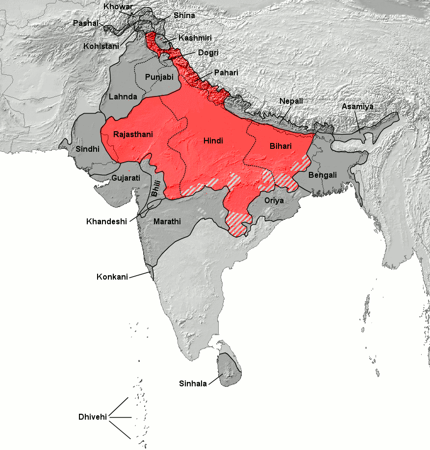 Hindi Belt Wikipedia - World map with country names in hindi