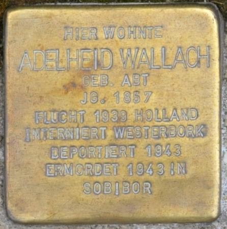 File:Hofgeismar-Stolpersteine-Adelheid-Wallach-CTH.JPG