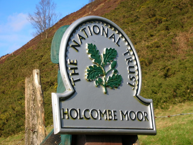 Holcombe Moor NT sign - geograph.org.uk - 341806