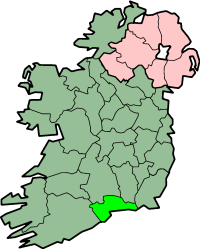 Plasseringa til County Waterford på Irland