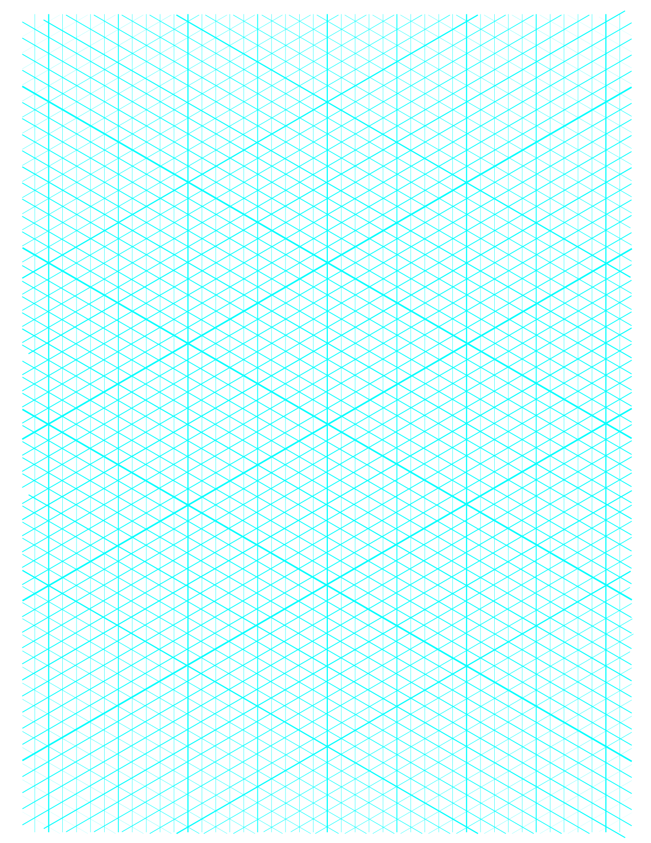 Versatile image for printable isometric graph paper