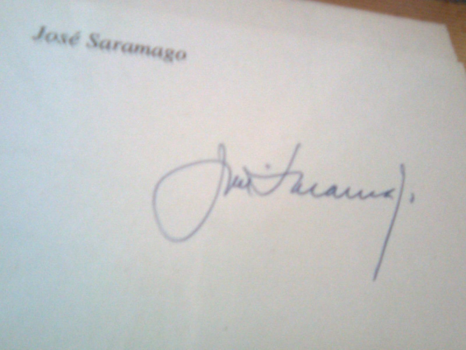 José Saramago Autograph