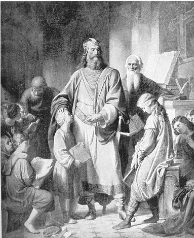 Charlemagne and His Scholars by Karl von Blaas (1815-1894)