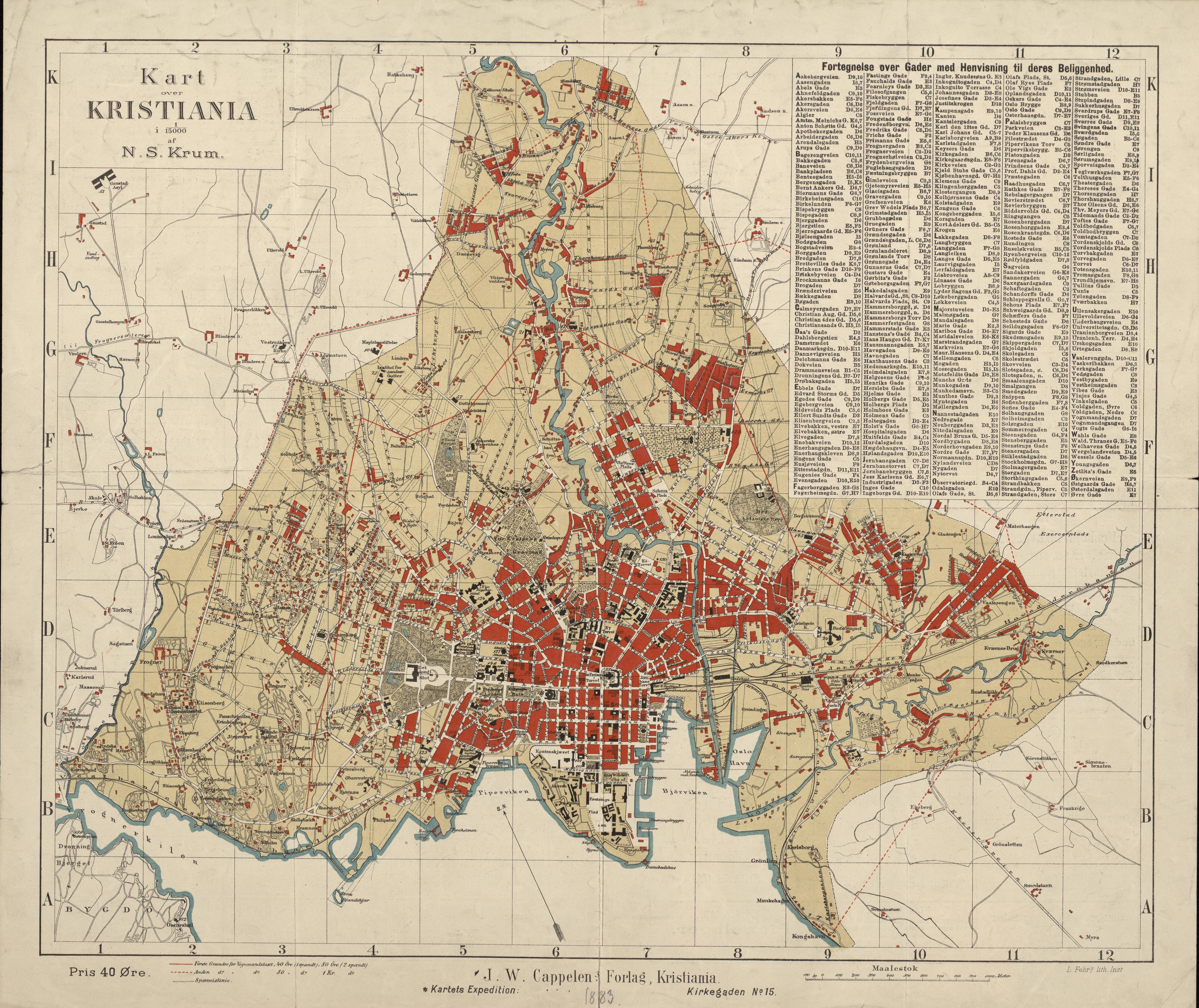 kristiania kart Fil:Kart over Kristiania   no nb krt 00563. – Wikipedia kristiania kart