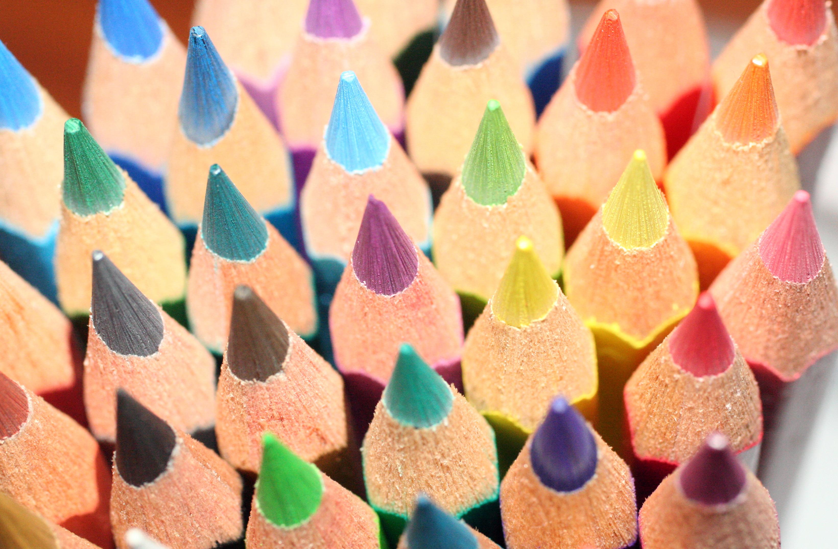 Tarjetas De Imagenes De Lapices De Colores