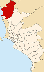 Location of Ancón in the Lima province