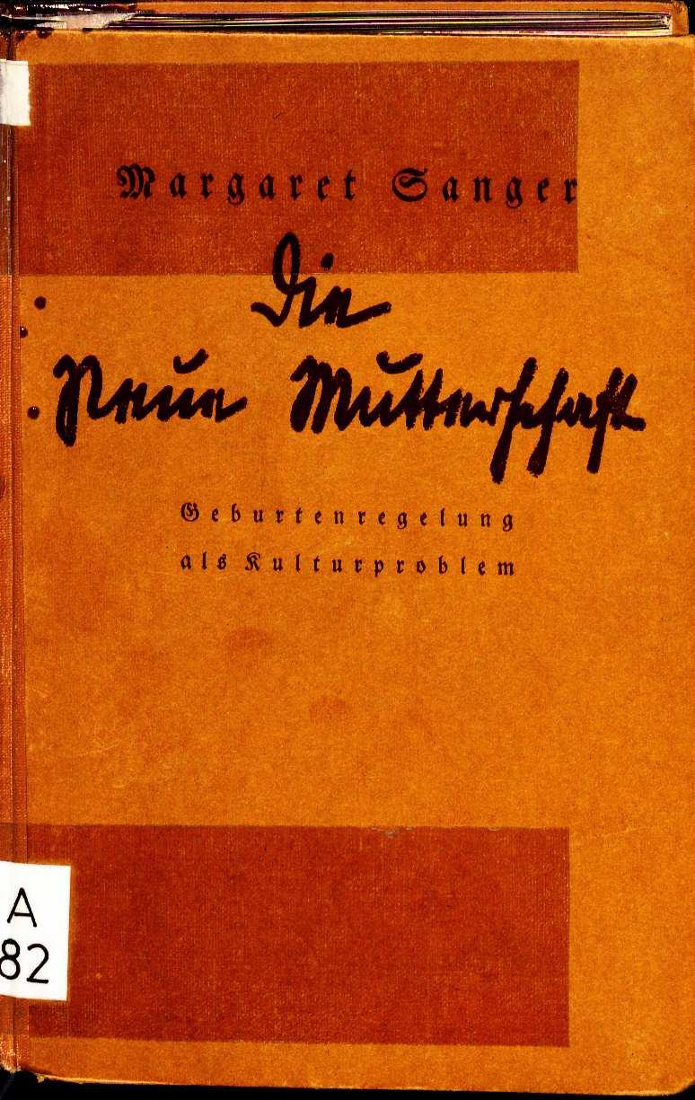 File:Margaret Sanger Die neue Mutterschaft 1927 Einband.jpg