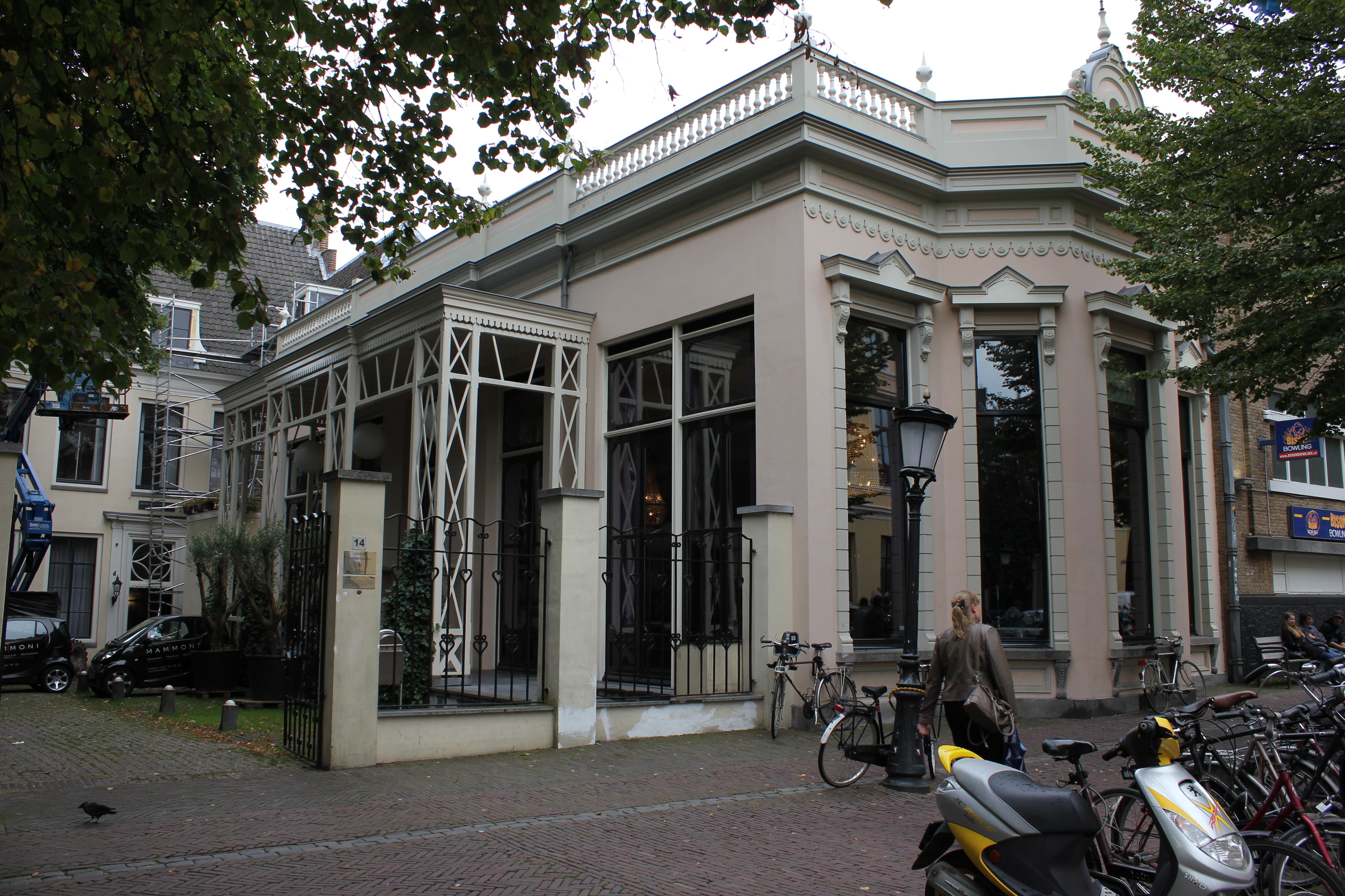 Gepleisterd huis met rechte kroonlijst hoog zadeldak for Huis utrecht