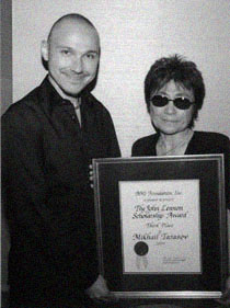 Universal Music Group's Svoy & Yoko Ono at BMI, NYC, in 2004.