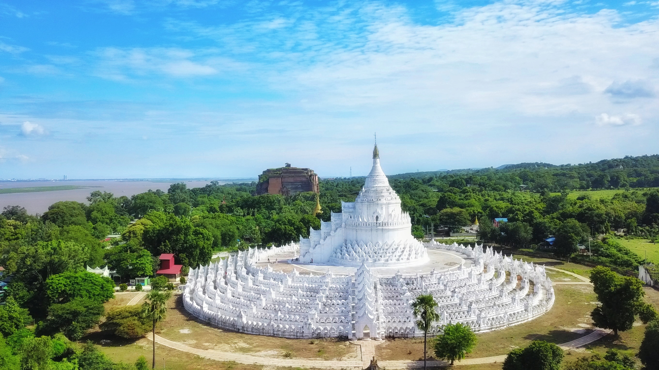 Image result for Buddha's full white painted viharas, monasteries, pagodas