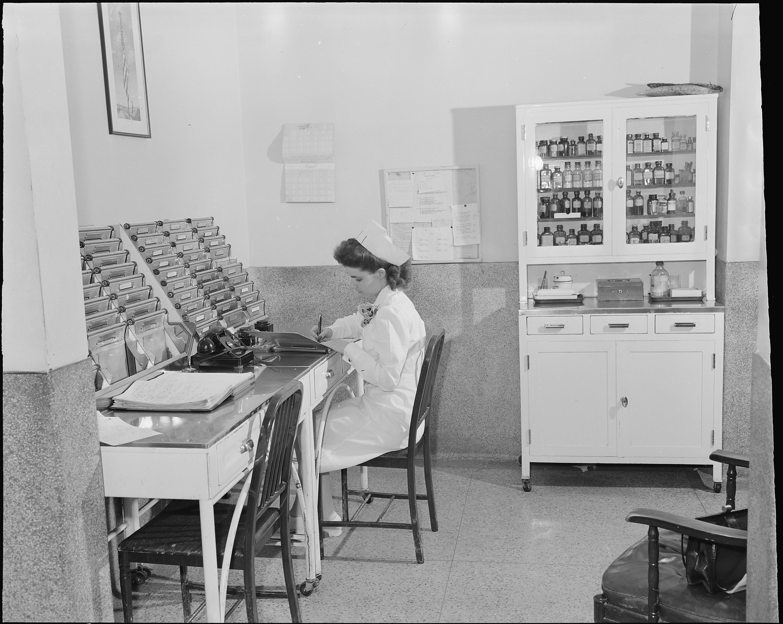vintage industrial office desks