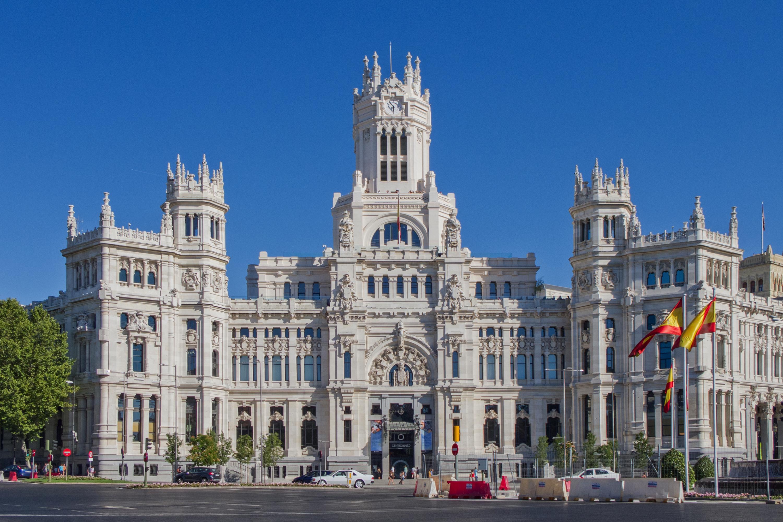 File palacio de comunicaciones wikimedia commons for Edificio correos madrid