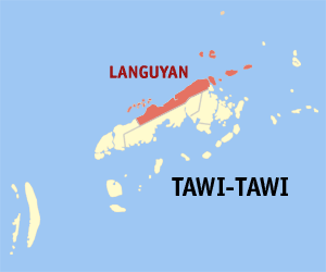 Map of Tawi-Tawi showing the location of Languyan