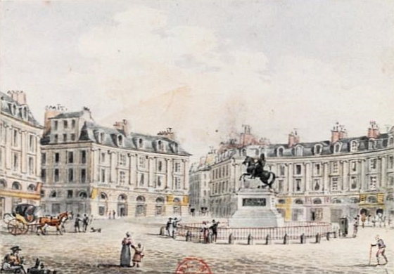 Place des Victoires by Victor-Jean Nicolle