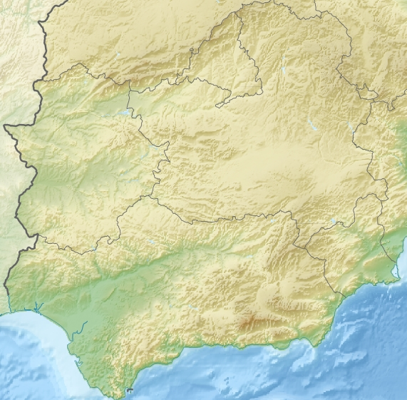 File:Relief Map of Southern Spain.jpg - Wikimedia Commons on