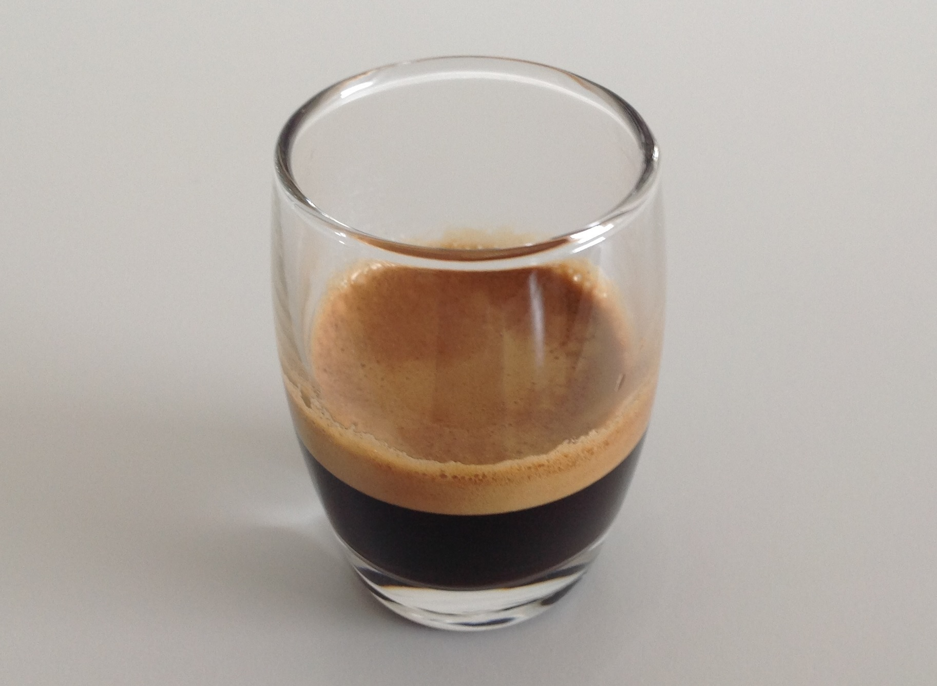 Ristretto in a glass