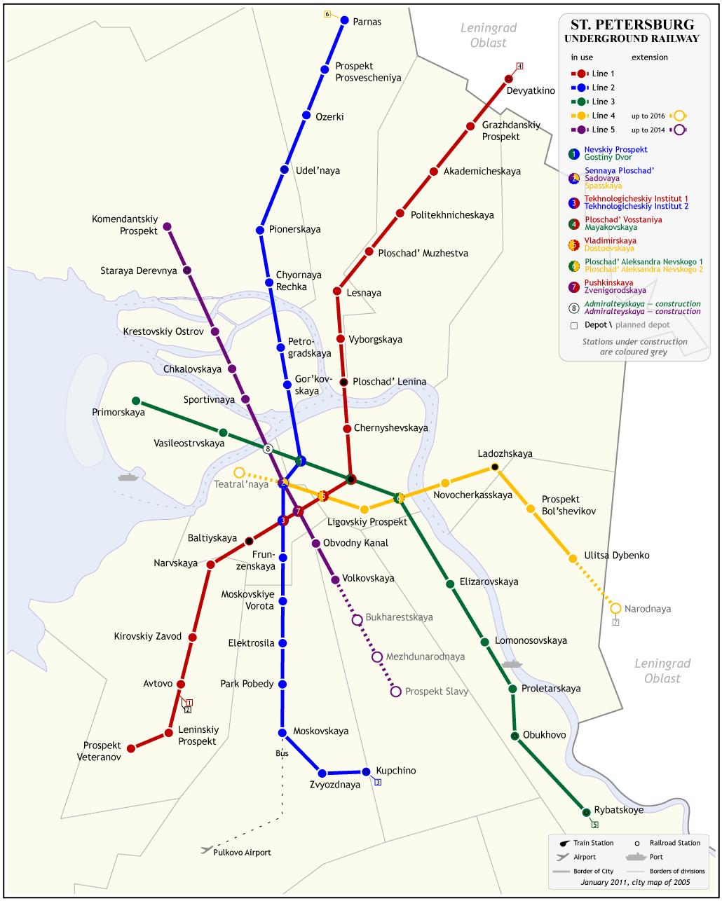 Схема метро на телефон/смартфон/коммуникатор.  Для телефонов с низким разрешением экрана.
