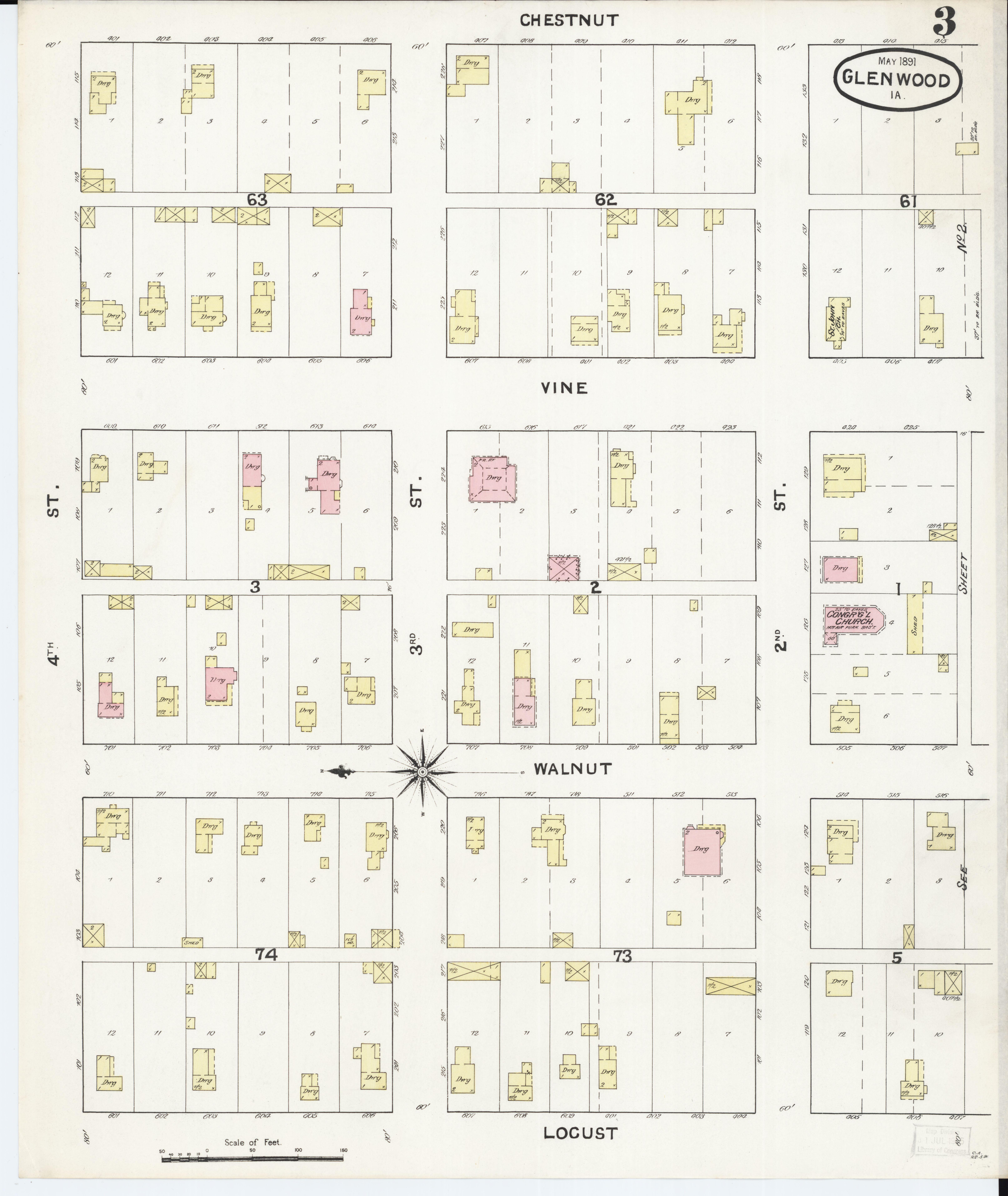 File Sanborn Fire Insurance Map From Glenwood Mills County Iowa