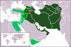 Expansion de l'Empire sassanide de 602 à 629.