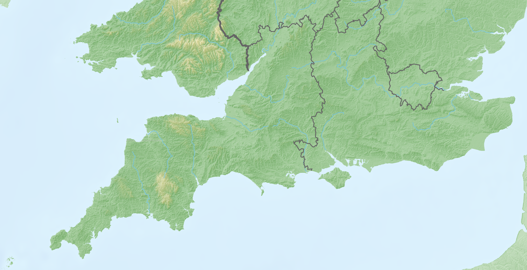 Map Of The South England.File Southern England Relief Map Png Wikimedia Commons