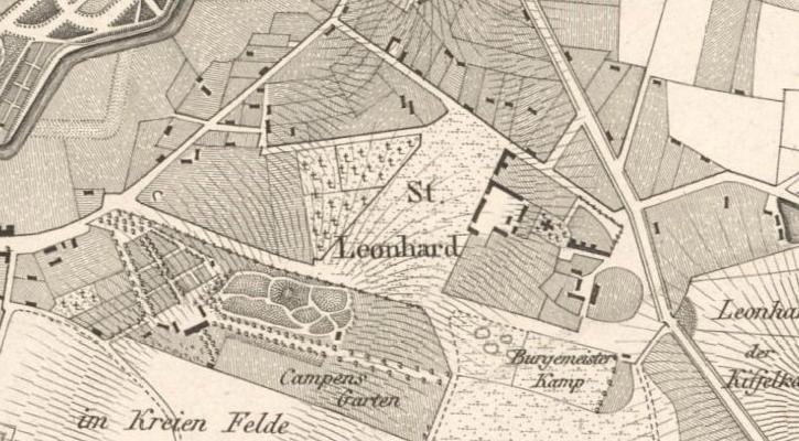 Kartenausschnitt von 1830