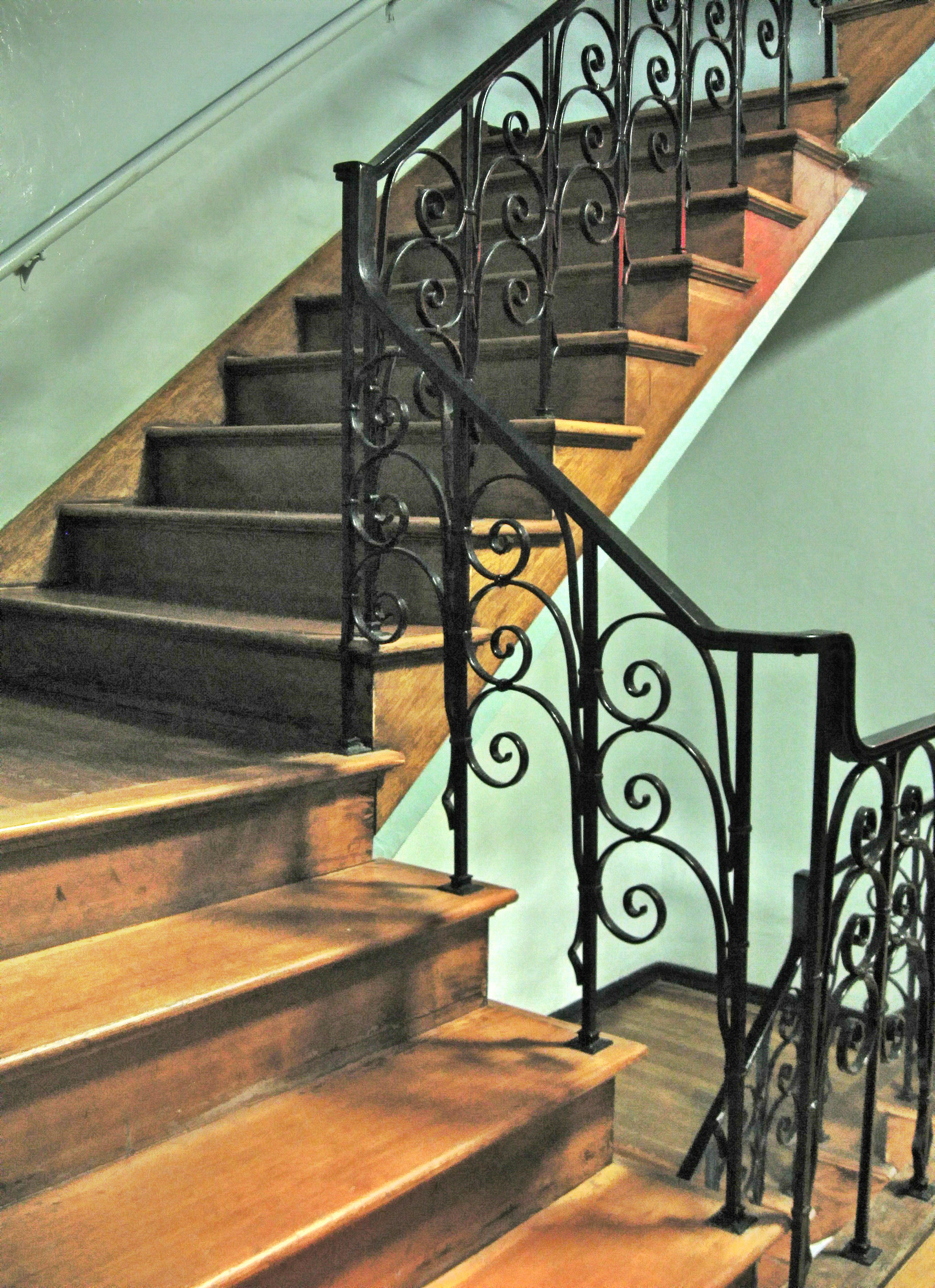 Staircase With Iron Railing Bright