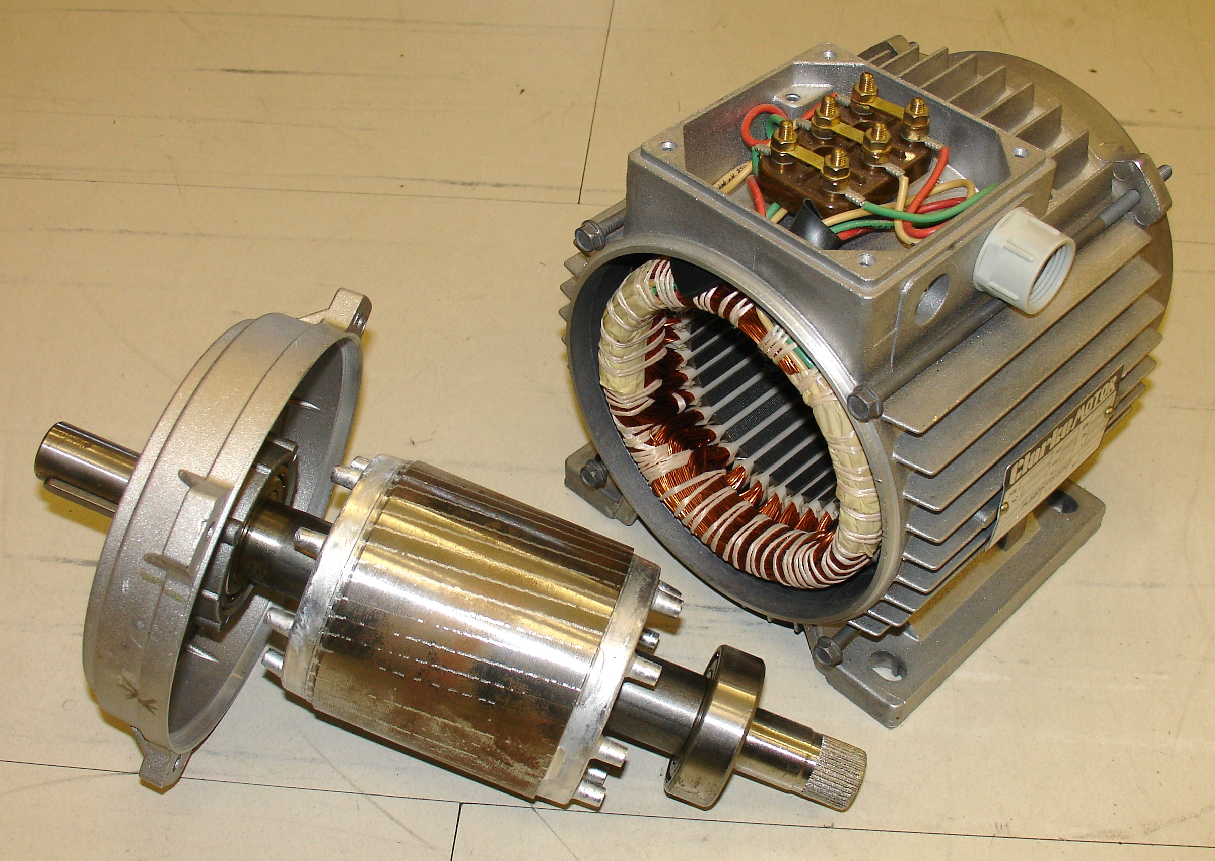Electric Motor Wikipedia Fan Wiring Diagram Further Dual On Rotor Left And Stator Right