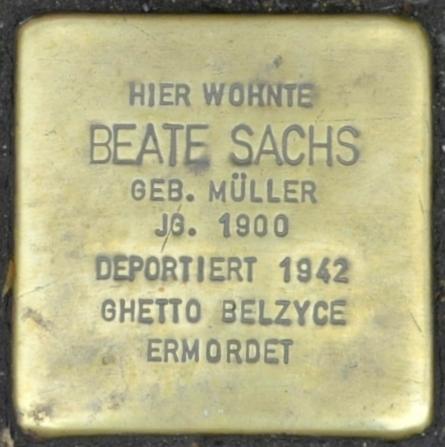 File:Stolperstein Georgenstraße 35, Eisenach-Beate Sachs-CTH.JPG