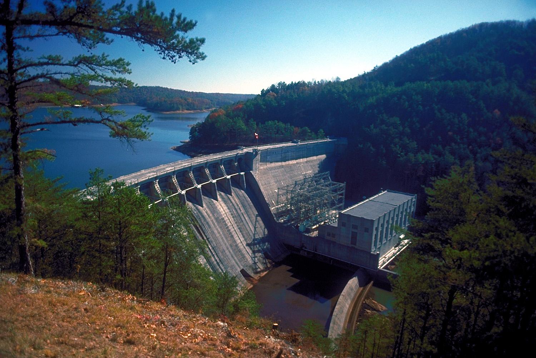 File Usace Allatoona Dam And Lake Jpg Wikimedia Commons