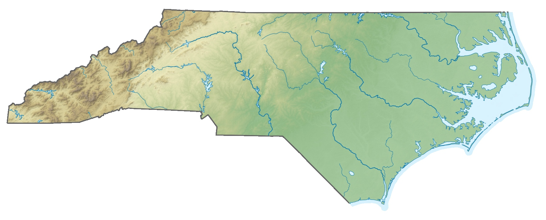 FileUSA North Carolina relief map cutjpg FileUSA