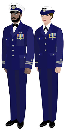Popular Dress Blue Uniforms As Well As One Prototype For The New Female Dress