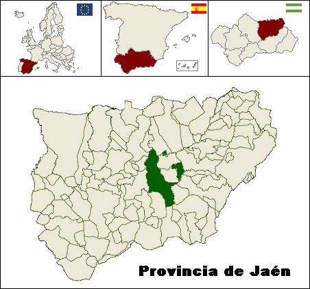 Municipio de Úbeda y su posición en la provincia de Jaén