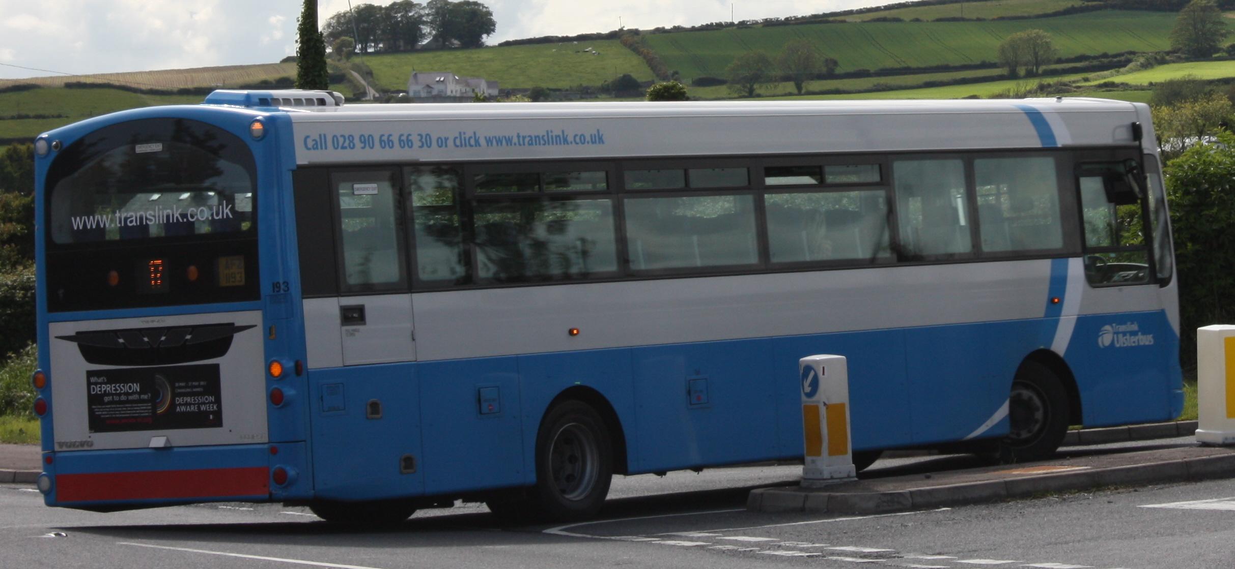 File:Ulsterbus bus 193 (AFZ 1193) 2010 Volvo B7R Wright Eclipse SchoolRun, 31 May 2011.jpg ...