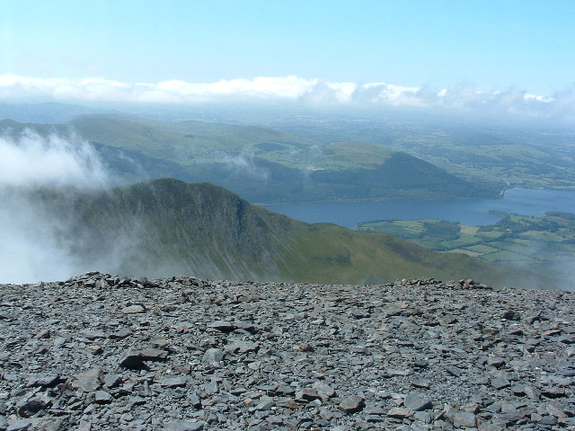 View From NW edge of Skiddaw Summit - geograph.org.uk - 35128