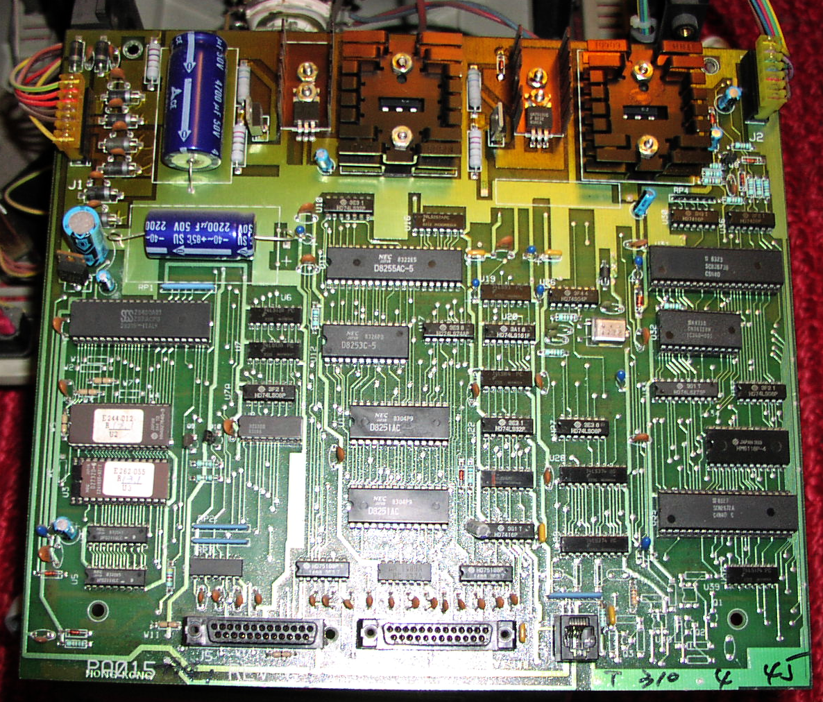 wikipedia:Visual 50 computer. It shows the SGS (now ST Microelectronics) Z8400AB1 CPU, as well as all the other components. This computer has not daughter