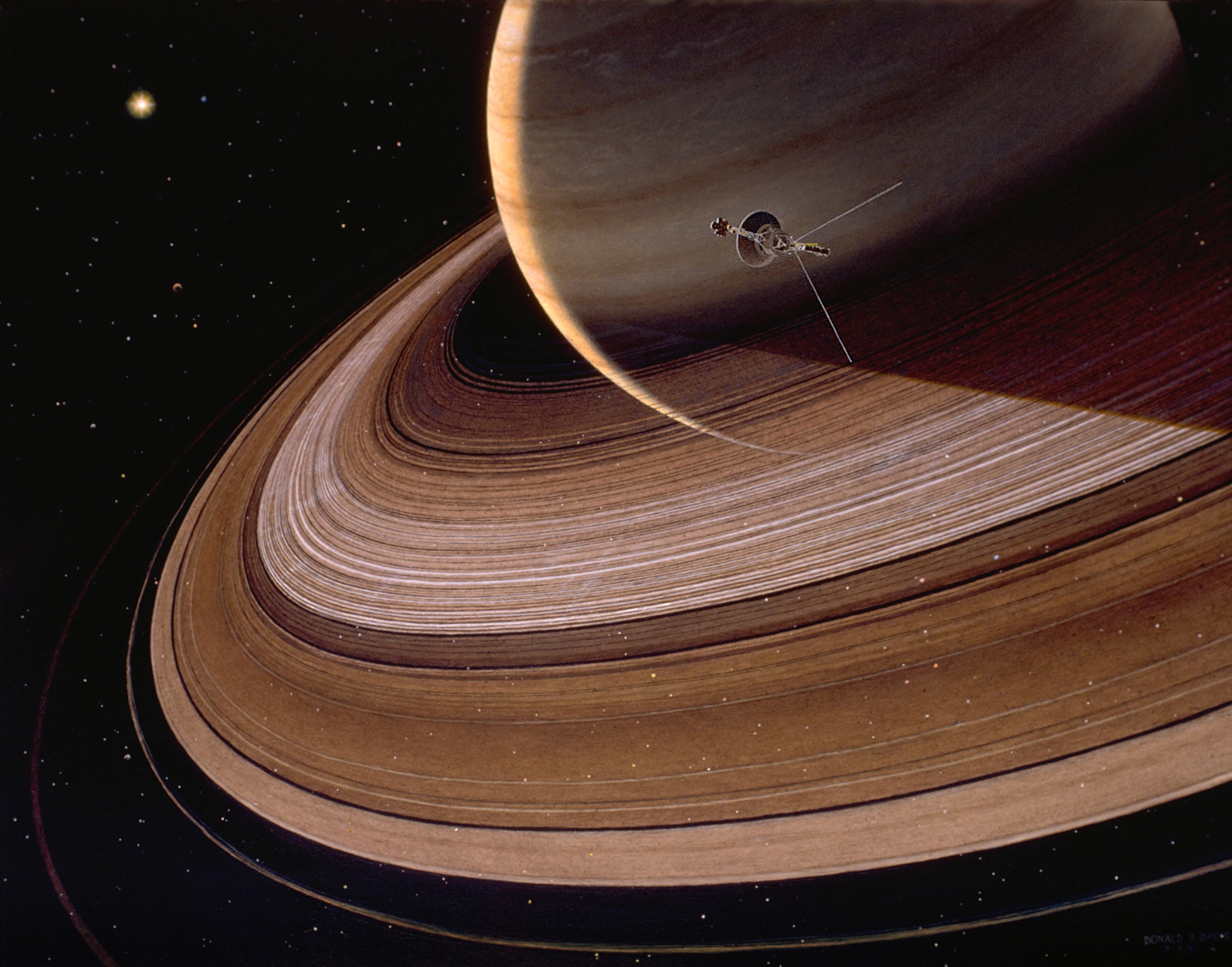 Voyager 1 and 2 saturn