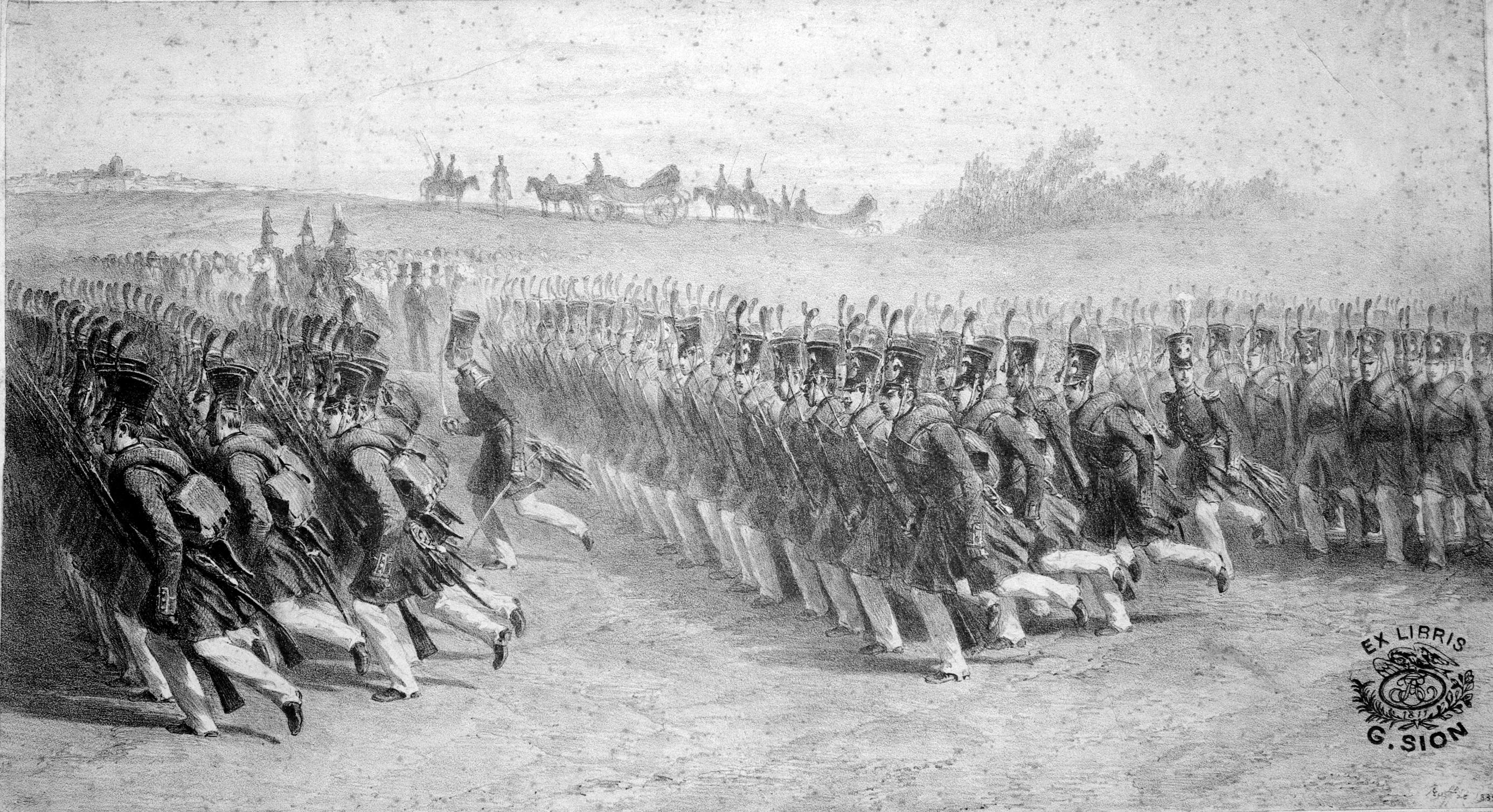Fişier:Wallachian infantery marching, 1837.jpg