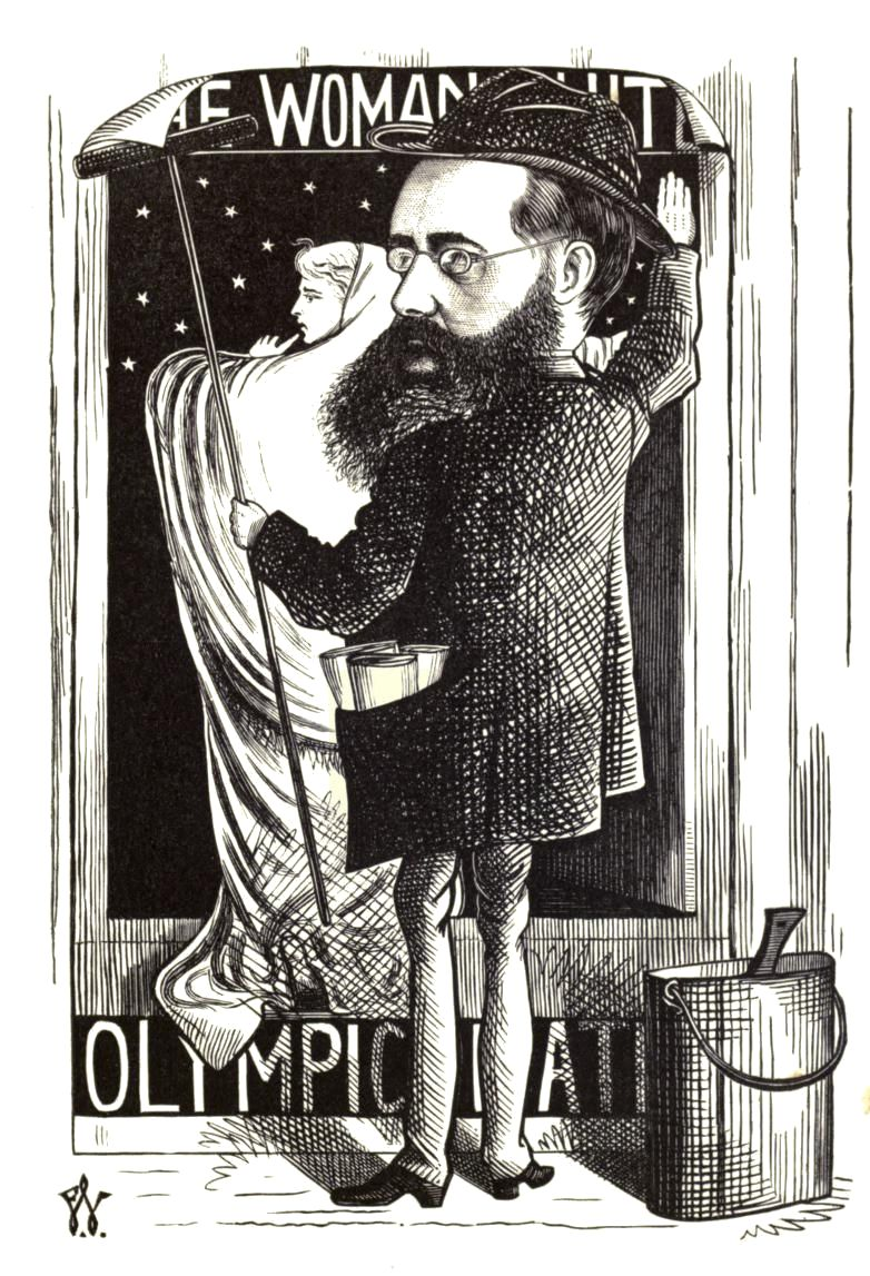Illustrated Caricature of Wilkie Collins