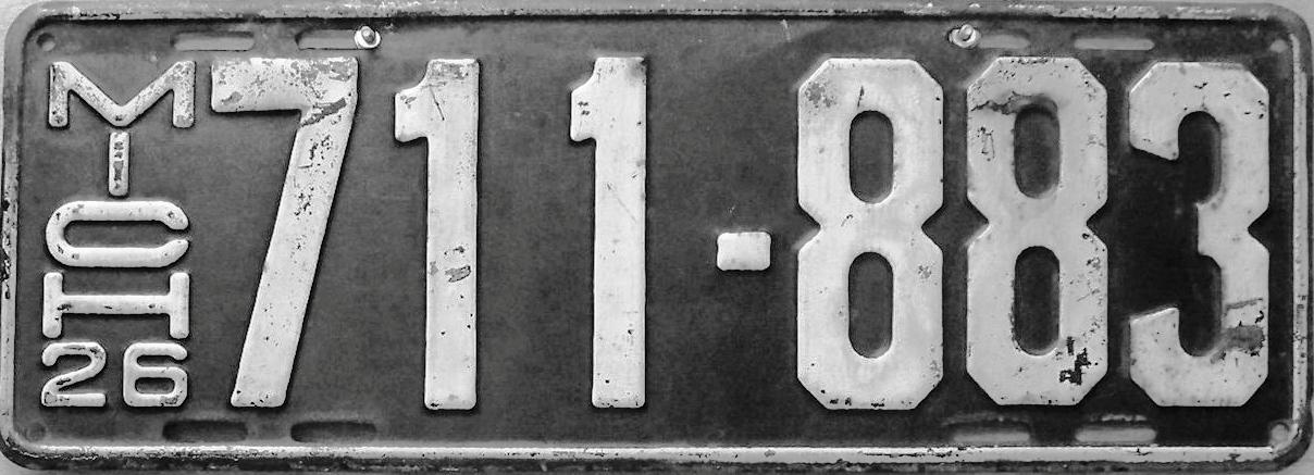 File:1926 Michigan license plate.jpg - Wikimedia Commons