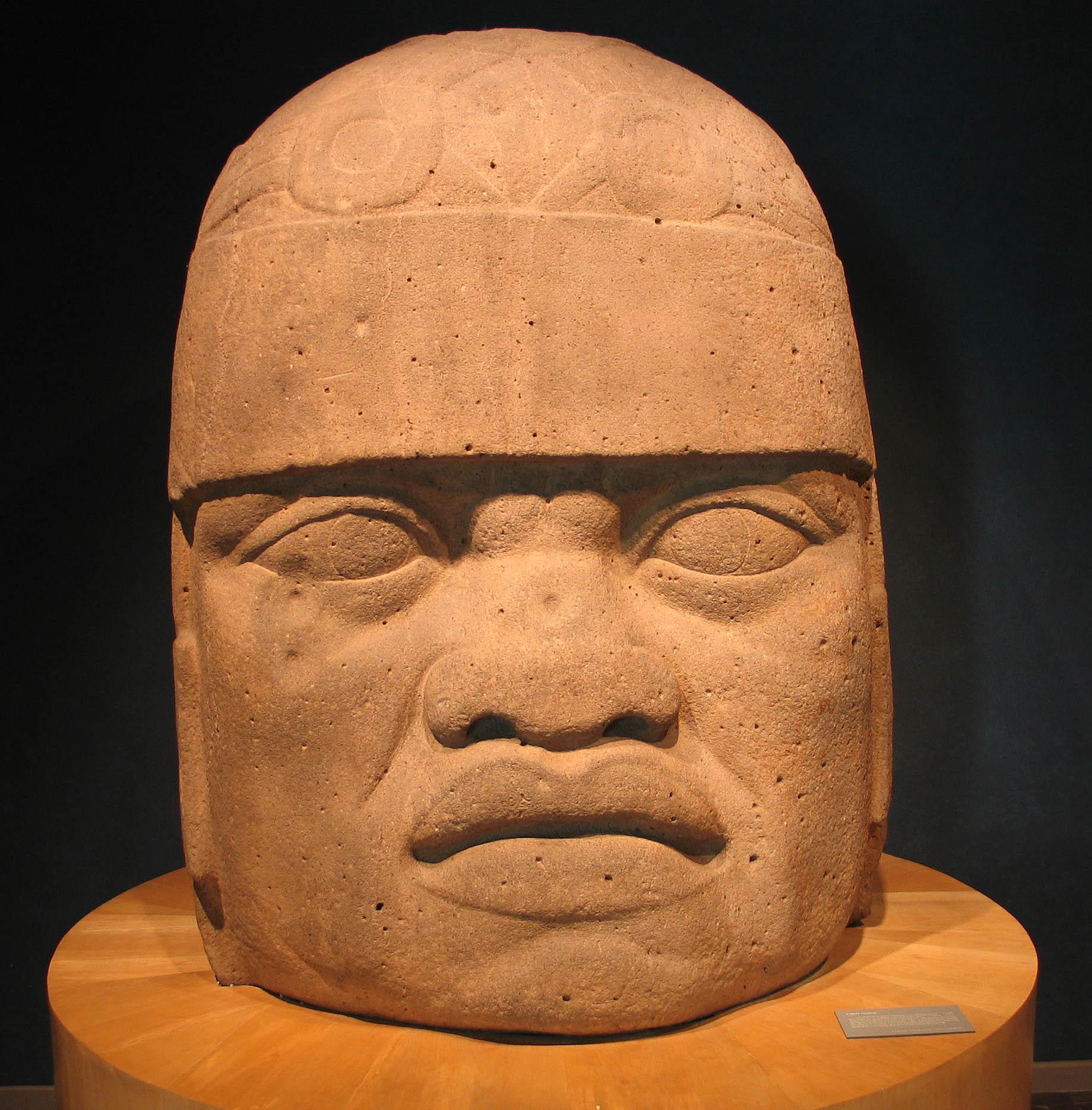 Olmec Head American Museum Of Natural History Plaque