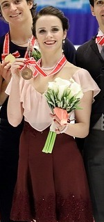 2016 NHK Trophy - Ice Dance winners (cropped) - Anna Cappellini.jpg