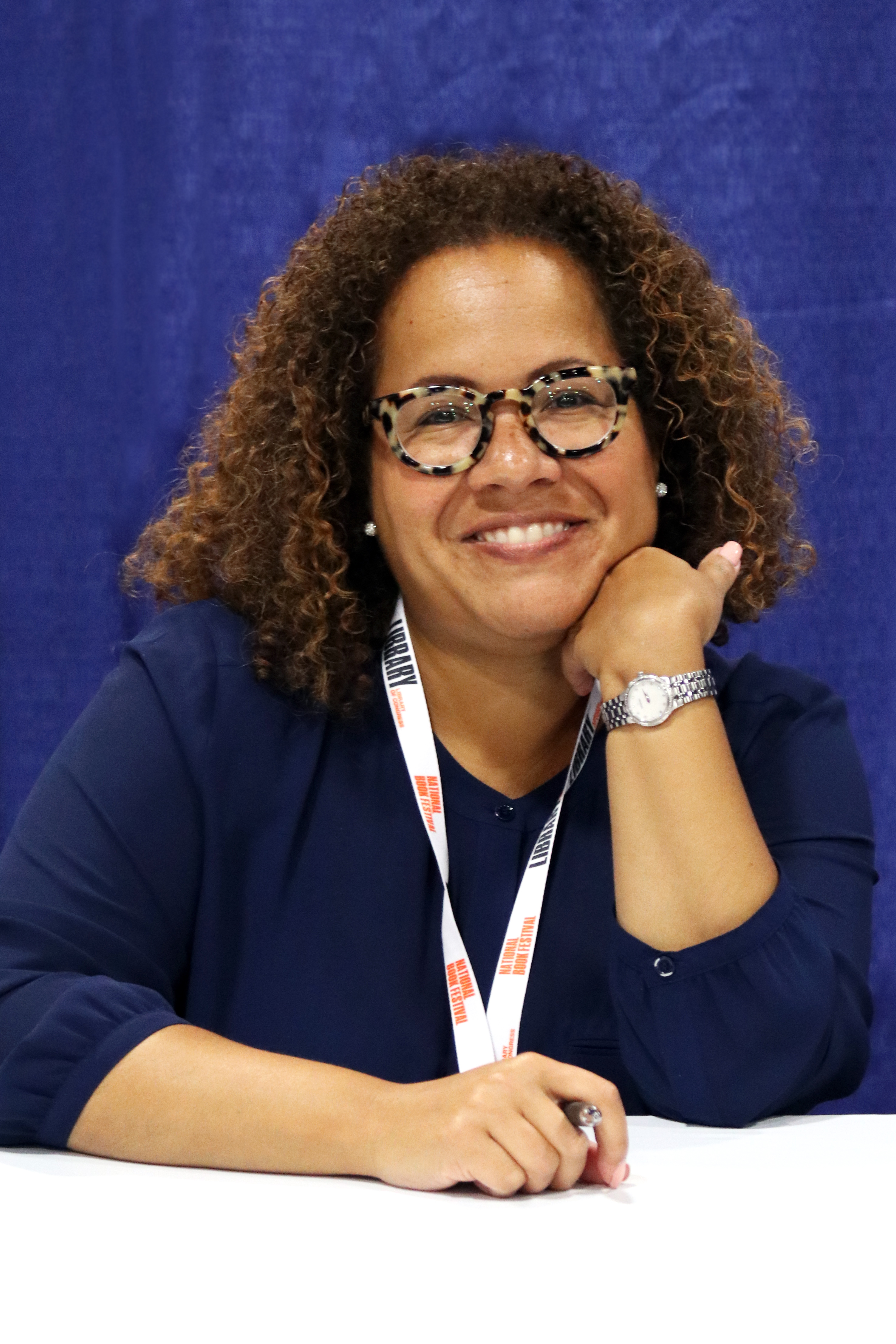Author at the 2018 U.S. [[National Book Festival]]