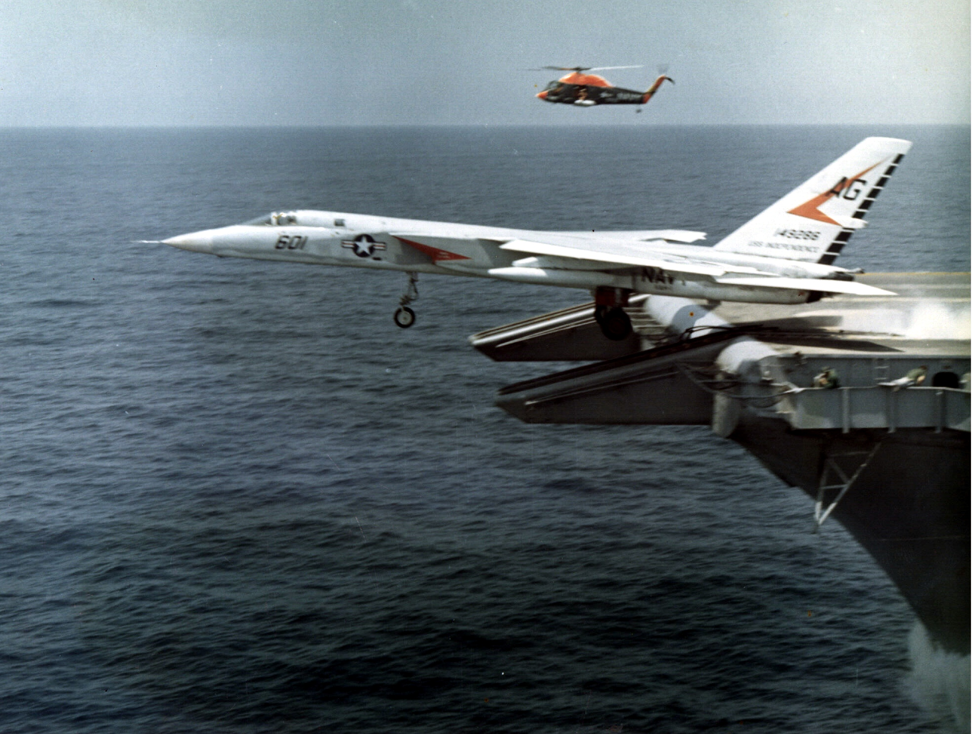 A-5A_Vigilante_of_VAH-1_being_launched_c